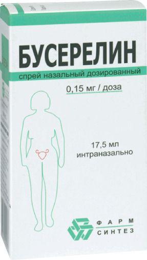 Бусерелин, 0.15 мг/доза, спрей назальный дозированный, 17.5 мл, 1 шт. купить в Москве, инструкция по применению, цена, отзывы и аналоги. Доставка в аптеку или на дом. Производитель препарата Фарм-Синтез