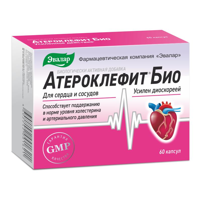 Атероклефит БИО, 250 мг, капсулы, 60 шт. купить в Москве, инструкция по применению, цена, отзывы и аналоги. Доставка в аптеку или на дом. Производитель препарата Эвалар