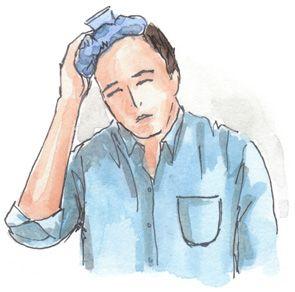 Грелка со льдом при мигрени