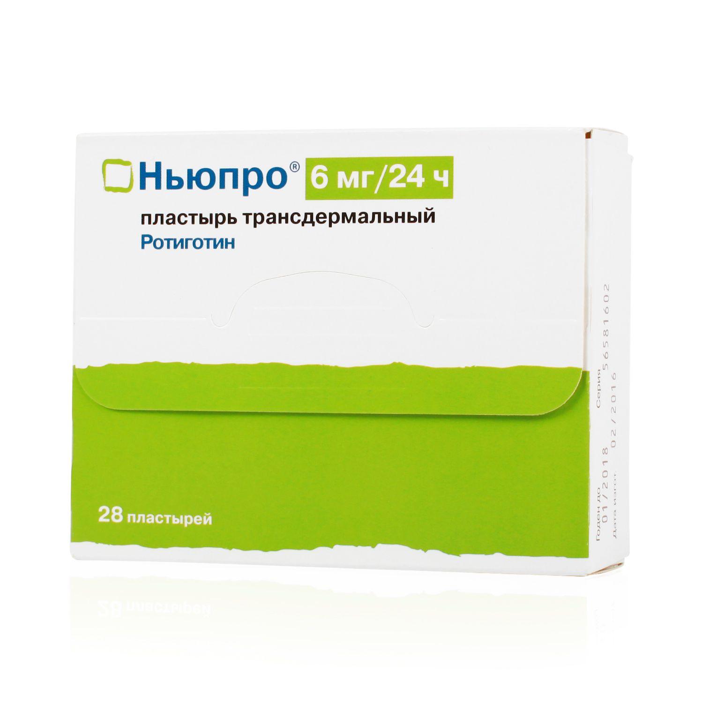 Ньюпро, 6 мг/сут, пластырь трансдермальный, 28 шт.