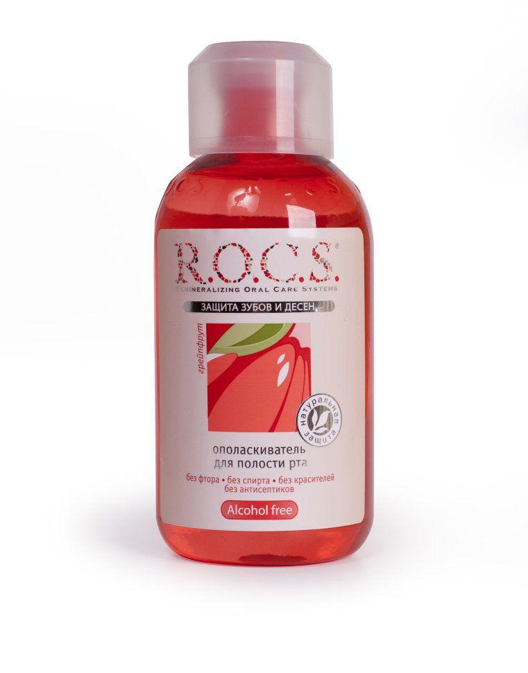 ROCS Ополаскиватель для полости рта Грейпфрут и мята, без фтора, раствор для полоскания полости рта, 400 мл, 1 шт.