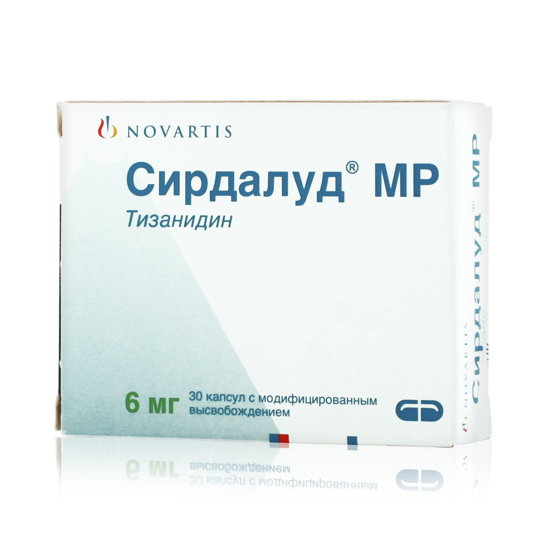 Сирдалуд МР, 6 мг, капсулы с модифицированным высвобождением, 30 шт.