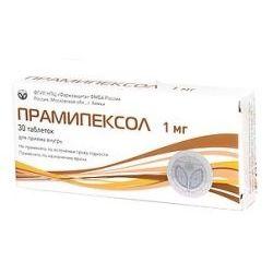 Прамипексол, 1 мг, таблетки, 30 шт.