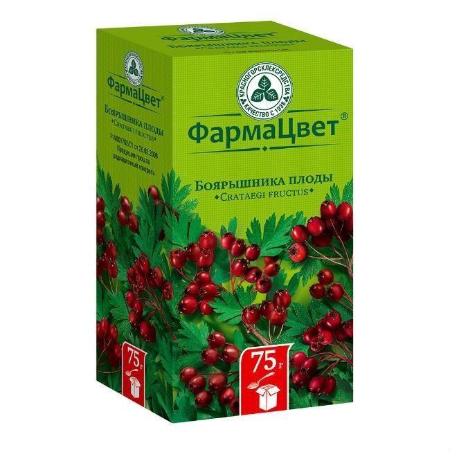 Боярышника плоды, сырье растительное цельное, 75 г, 1 шт.