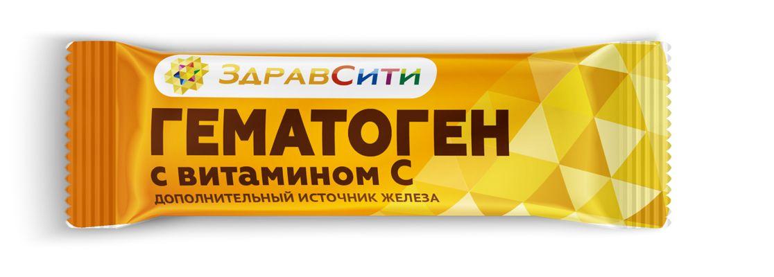 фото упаковки Здравсити Гематоген с витамином С
