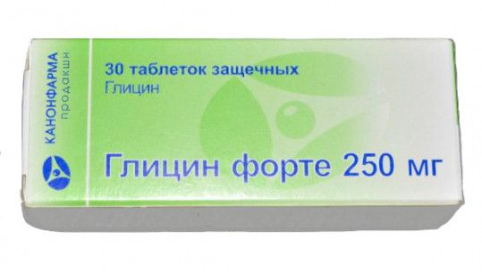 Глицин форте, 250 мг, таблетки защечные, 30шт.
