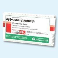 Эуфиллин-Дарница, 240 мг/мл, раствор для внутримышечного введения, 1 мл, 10 шт.