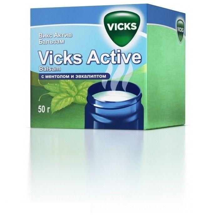 фото упаковки Викс Актив Бальзам с ментолом и эвкалиптом