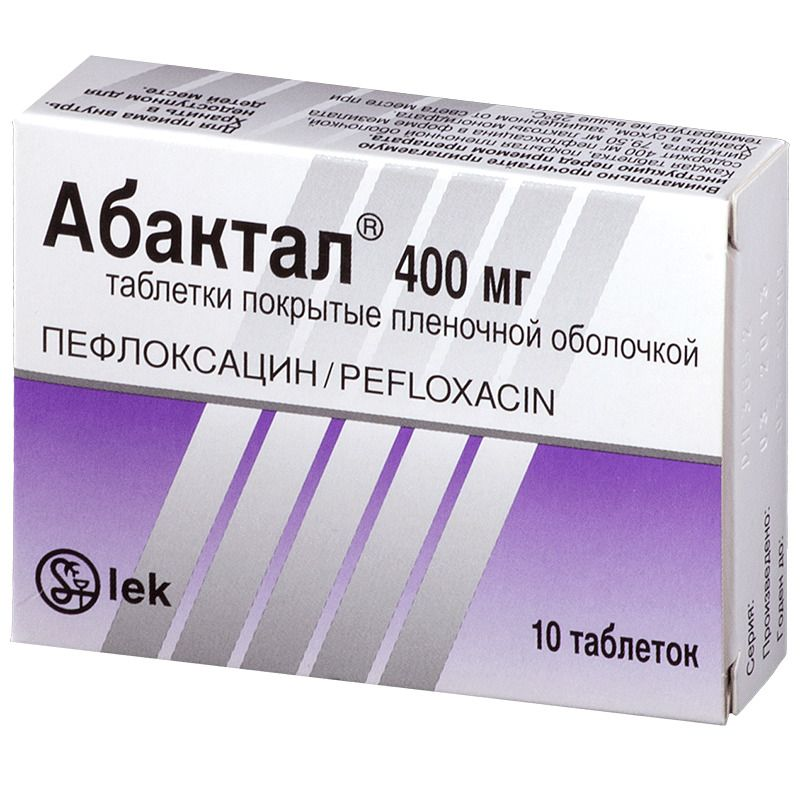Абактал, 400 мг, таблетки, покрытые пленочной оболочкой, 10 шт.
