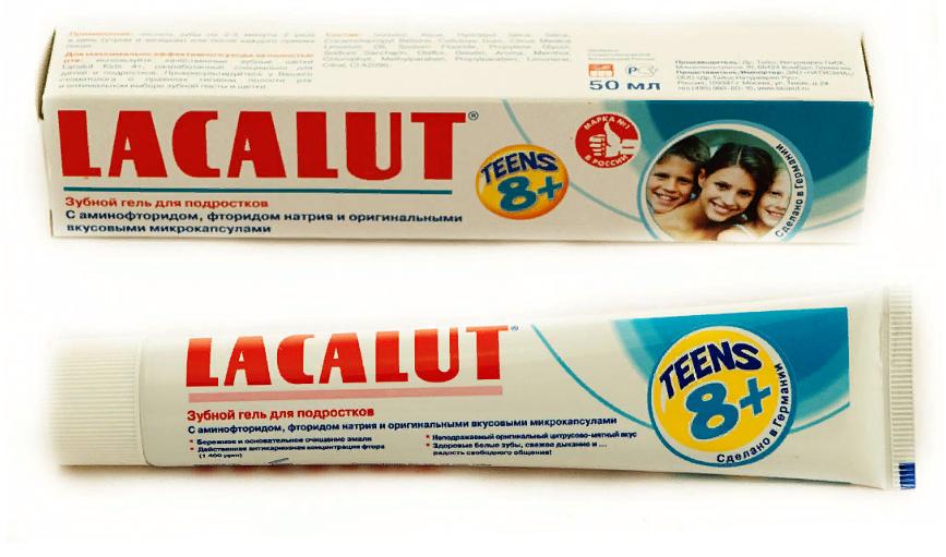Lacalut Teens зубной гель 8+, паста-гель, 50 мл, 1 шт.