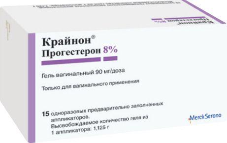 Крайнон, 90 мг/доза, гель вагинальный, 1.125 г, 15 шт.
