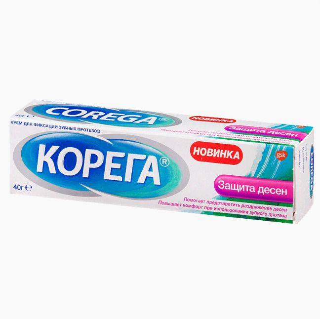 фото упаковки Корега Защита десен Крем для фиксации зубных протезов