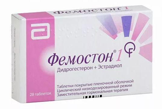 Фемостон 1, 1+10 мг, таблетки, покрытые оболочкой, 28 шт.