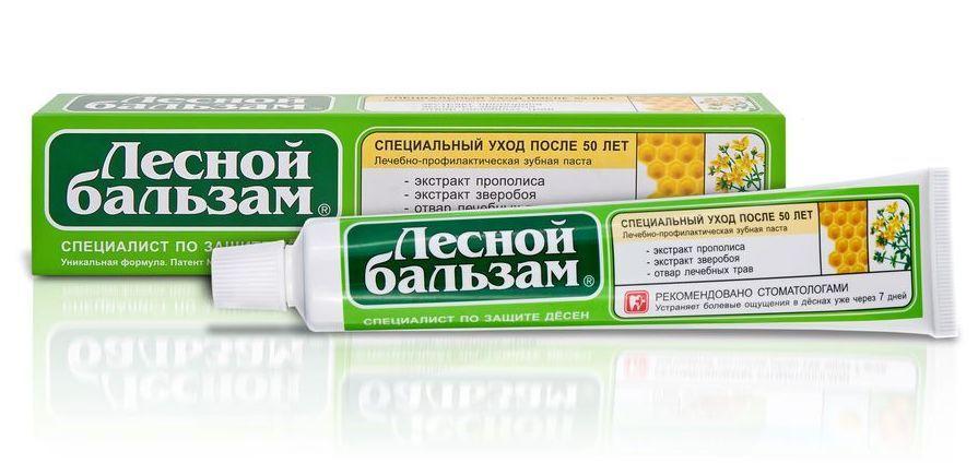 фото упаковки Лесной бальзам Зубная паста с экстрактом прополиса и зверобоя