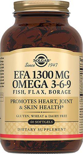 Solgar Комплекс жирных кислот 1300 мг омега 3-6-9, 1300 мг, капсулы, 60 шт.