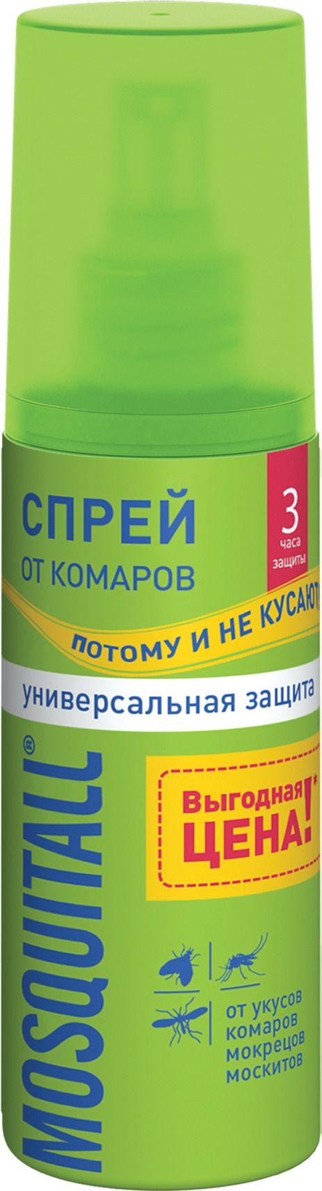 Mosquitall Универсальная защита спрей, спрей, на кожу, 100 мл, 1 шт.