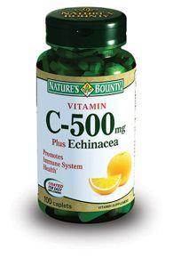 Natures Bounty Витамин С 500 мг плюс Эхинацея, таблетки, 100 шт.