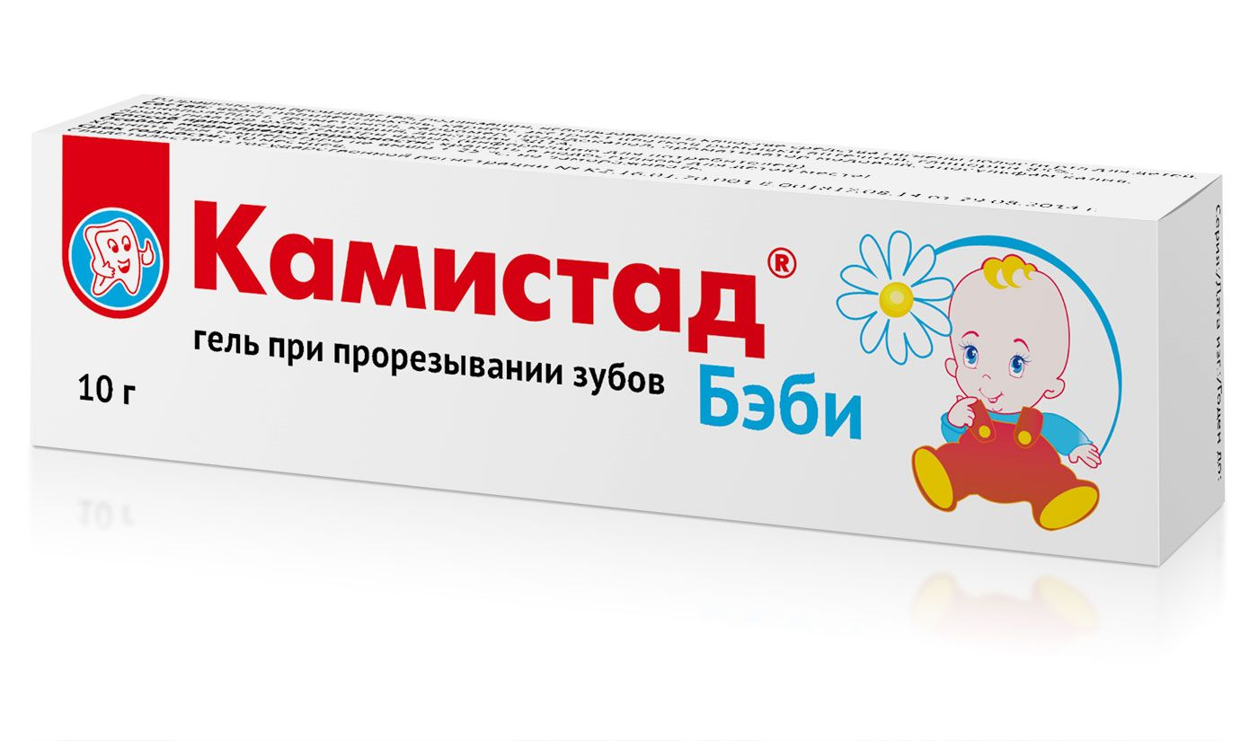 фото упаковки Камистад Бэби гель при прорезывании зубов
