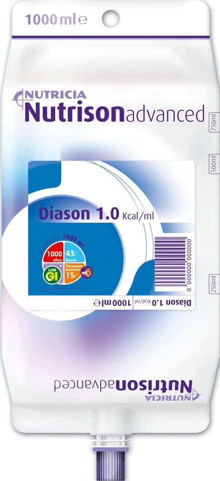 Nutrison Advanced Diason, смесь жидкая, 1 л, 1 шт.