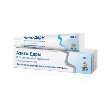 Азикс-Дерм, 20%, крем для наружного применения, 30 г, 1 шт.