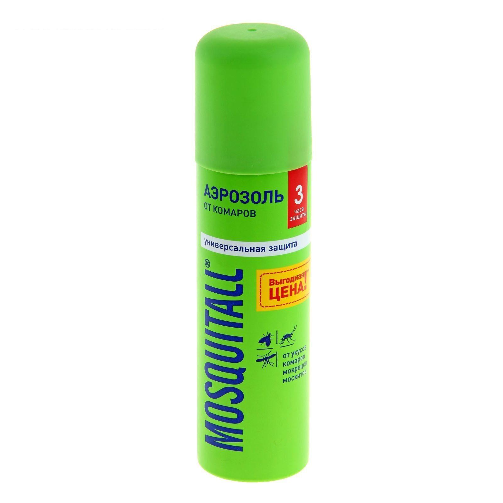Mosquitall Универсальная защита аэрозоль, аэрозоль, на кожу, 150 мл, 1 шт.