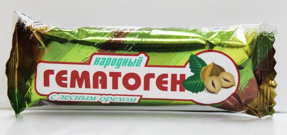 фото упаковки Гематоген Народный с лесным орехом