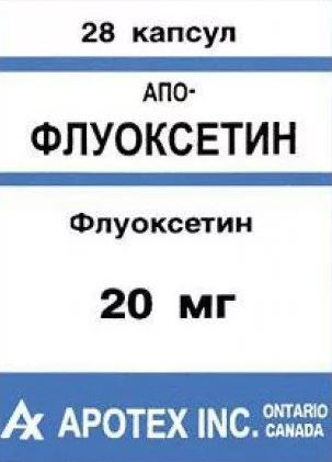 Апо-Флуоксетин, 20 мг, капсулы, 28 шт.
