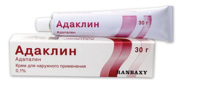 Адаклин, 0.1%, крем для наружного применения, 30 г, 1 шт.