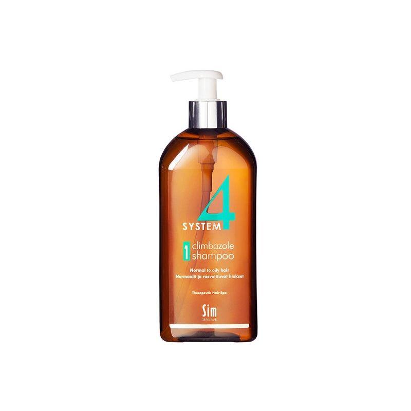 фото упаковки System 4 Терапевтический шампунь №1 для нормальной и склонной к жирности кожи головы