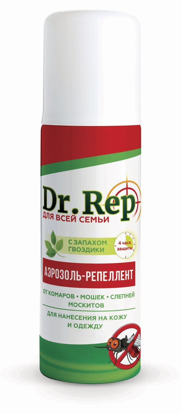 фото упаковки Dr. Rep Аэрозоль от комаров и мошек