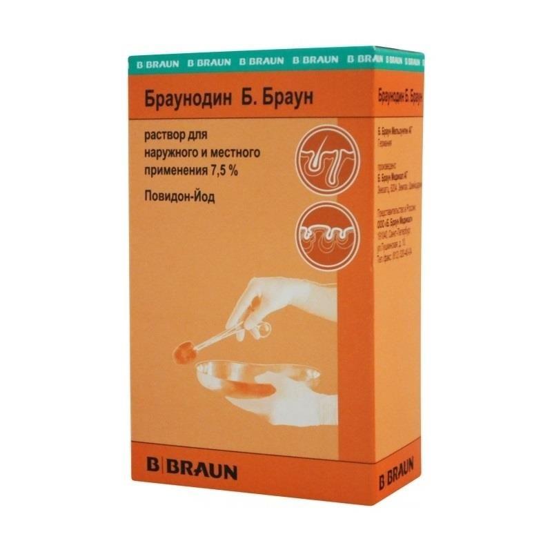 Браунодин Б.Браун, 7.5%, раствор для местного и наружного применения, 100 мл, 1 шт.