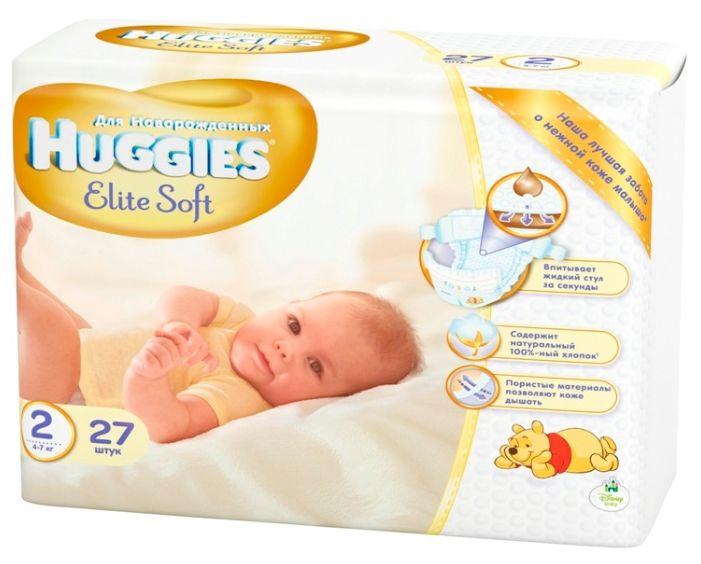 фото упаковки Huggies Elite Soft Подгузники детские одноразовые
