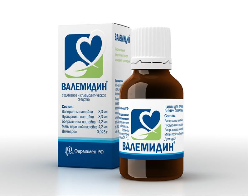 Валемидин, капли для приема внутрь спиртовые, 25 мл, 1 шт.