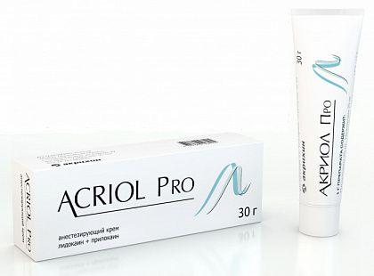 Акриол Про, 2.5%+2.5%, крем для местного и наружного применения, 30 г, 1 шт.