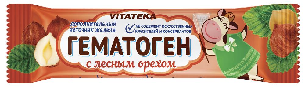 фото упаковки Витатека Гематоген Новый с лесным орехом