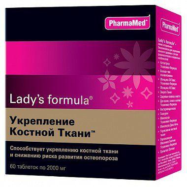 Lady's formula Укрепление костной ткани, 2000 мг, таблетки, 60 шт.