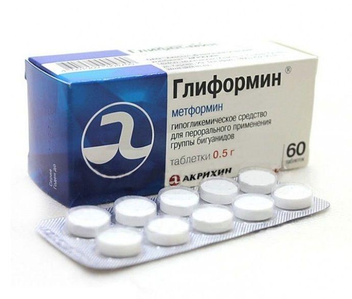 Глиформин, 500 мг, таблетки, 60 шт.