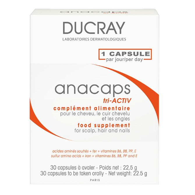 Ducray Анакапс Три-Актив для волос и кожи головы, 812 мг, капсулы, 30 шт.