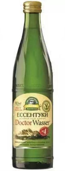 Вода минеральная Ессентуки-4, лечебно-столовая газированная, в стеклянной бутылке, 500 мл, 1 шт.