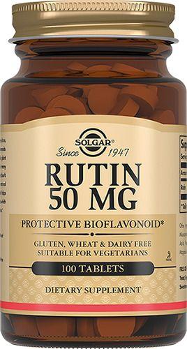 Solgar Рутин 50 мг, 50 мг, таблетки, 100шт.