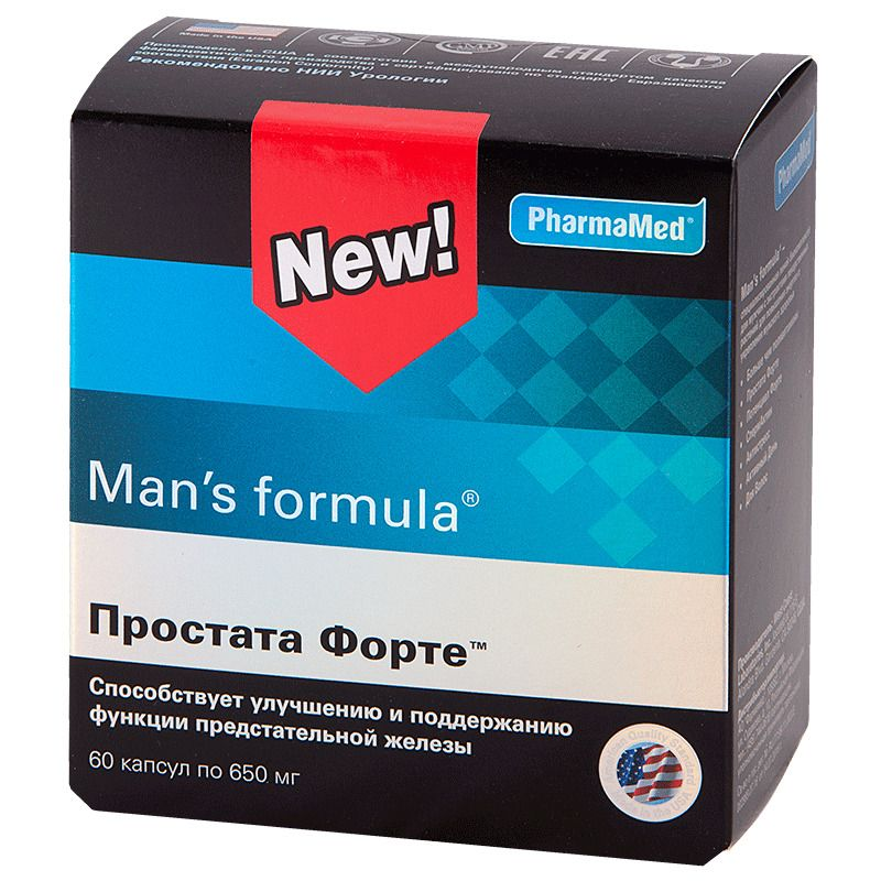 Man's formula Простата Форте, 650 мг, капсулы, 60 шт.
