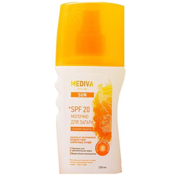 фото упаковки Mediva Sun Молочко для загара spf-20