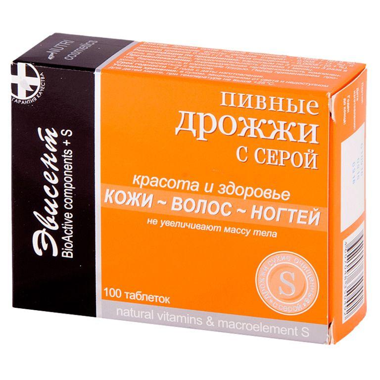фото упаковки Пивные дрожжи Эвисент с серой