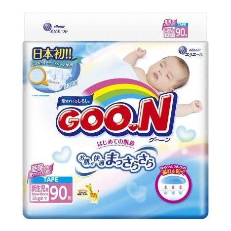 Подгузники детские GOON, 0-5 кг, р. NB, 90 шт.