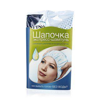 фото упаковки Tena шапочка экспресс-шампунь для мытья головы