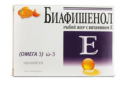 фото упаковки Биафишенол рыбий жир с витамином Е
