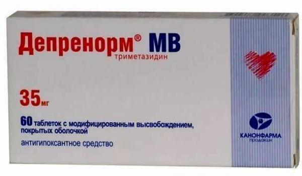 Депренорм МВ, 35 мг, таблетки пролонгированного действия, покрытые пленочной оболочкой, 60 шт.