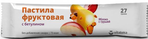 фото упаковки Витатека Пастила фруктовая Яблоко с грушей