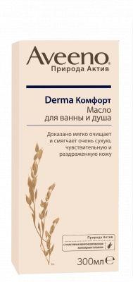 фото упаковки Aveeno Derma Комфорт масло для ванны и душа