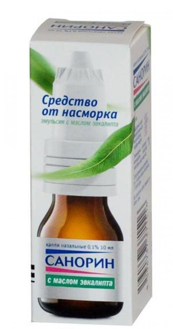 фото упаковки Санорин с маслом эвкалипта